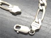 Silver Figaro Bracelet 925 Silver 19.4g